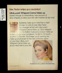 1969 Max Factor Whipped Cre Makeup Vintage Print Ad 016679