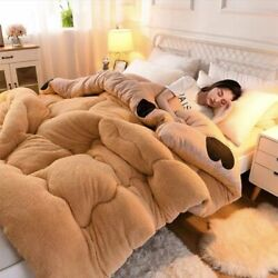 Comforters Lamb Wool Super Soft Warmer Winter Thickened Quilt Cashmere Blankets