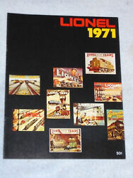1971 Lionel Toy Train And Accessory Catalog New Unused Postwar O 027 Gauge Sets