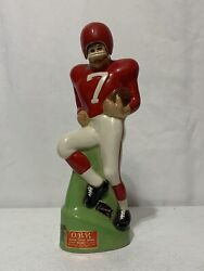 Rare Obr Football Player 7 Decanter Bottle Made By Paul Lux