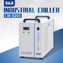 Sanda Industrial Water Chiller Cw-5200dh 110v For 80w-180w Co2 Laser Tube Spindle