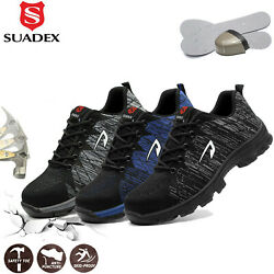 Suadex Puncture Proof Indestructible Steel Toe Work Safety Shoes For Men Women