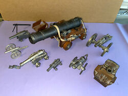 Pewter Civil War Napoleon Pirate Cannon Artillery Lot Collection Large 6 Inch
