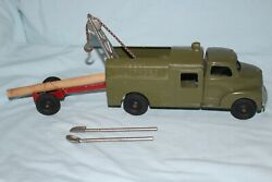 Vintage Hubley Bell Telephone Truck W/ Trailer And Shovels 478 W/ 475 Chassis