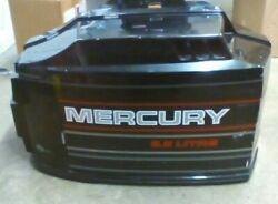 Mercury 140hp Outboard Hood Top Cowl Assembly Black 135-200hp W/ Decals