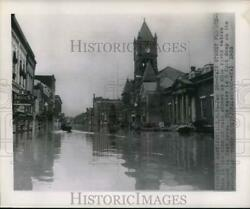 1952 Press Photo Main Street In West Virginia Covered By Ohio River Flood Waters