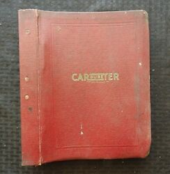 1932-48 Packard Chevy Pontiac Dodge Whizzer Motorcycle Carter Carburetor Manual
