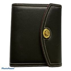 Franklin Covey Day One Compact Black Pebble Synthetic Leather 6-ring Planner