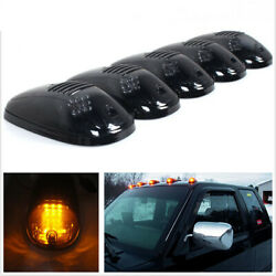 5pcs Smoked 12-led Cab Roof Marker Roof Top Truck Suv Driving Running Light Set
