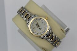 Tag Heuer Wjf1352.bb0581 White 18k Gold Mop Pearl Link Watch Womens Silver Mint