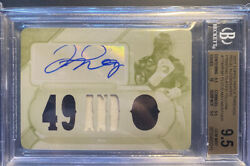 2017 Floyd Mayweather Topps Triple Threads Patch Auto 1/1 White Whale Bgs 9.5