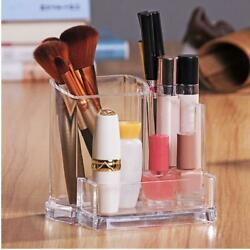 Storage Makeup Organizer Brush Box Holder Acrylic Cosmetic Clear Case Pearl $4.23