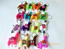 Wholesale Lot 100 Llamas Key Chains Rings  From Peru Item In Usa