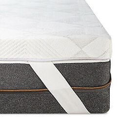 Queen Size Bedstory 3 Inch Lavender Memory Foam Mattress Topper With Cover Pads