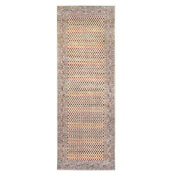 4and039x12and039 Wool And Sari Silk Saroogh Inspired Hand Knotted Rug R62332