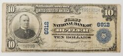 1903 United States Circulated 10 National Currency Bank Note 6912 Butler Nj