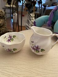 Coalport Flower Miniatures - Cup And Pitcher Bone China Made In England