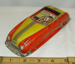 Lupor Tin Toy Car Main Body Part To Restore In Red And Yellow