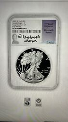 2021 Silver Eagle Type 1 Proof - Ngc Pf70 Er Early Releases -jones Labelsigned