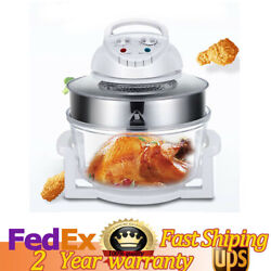 17l Glass Turbo Air Fryer Convection Oven Roaster Electric Cooker 110v Oil Free