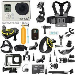 Gopro Hero3+ Plus Black Edition Camcorder With 40pcs Accessory, Waterproof Case