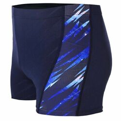 Menand039s Competition Swim Briefs Digital Printing Trunks Sport Nylon Swimsuits