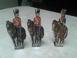 Marx Soldiers Tin Target Lot Of 3 Royal Scots Greys, Uhlan Horse Soldiers