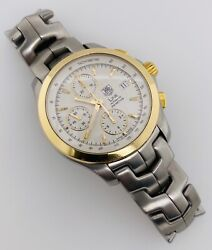 Tag Heuer Link Automatic Chronograph 18kt Yellow Gold And Steel 42mm Cjf2150