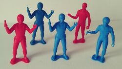Lot Of 5 Vintage Mpc Spacemen Figures 1970s Collectables Space Toys Playset 5