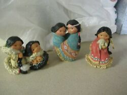 Enesco Friends Of The Feather Lot Of 3 Friendship Love Many Moons Cares Alot
