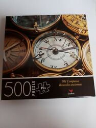 """New 500 Piece Jigsaw Puzzle Old Compasses Cardinal 14 X 11"""" Free Shipping"""