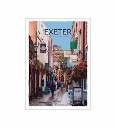 Retro Vintage Style Travel Poster Pictures - Exeter Great Poster Pretty Gift