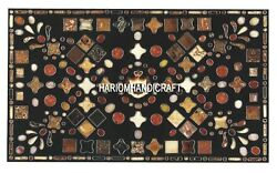 Variety Of Multi Mosaic Stones Marble Dining Table Top Real Inlay Home Art H3997