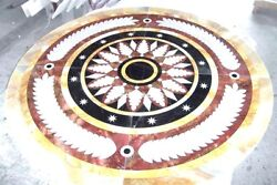 Hallway Adorable Marble Console Inlaid Table Top Natural Outdoor Design Art Gift
