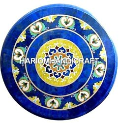 Blue Marble Console Table Top Lapis Lazuli Inlay Home Mosaic Interior Arts H2038