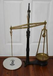 Fab Antique Hatton And Beardmore Mercantile Scale Bankers Scale Drug Store Display