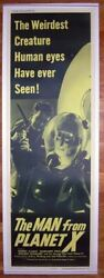 Man From Planet X The 1951 18436 Rare 20x60 Door Panel Poster With Alien