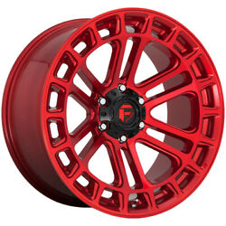 4-fuel D719 Heater 20x10 6x135 -18mm Candy Red Wheels Rims 20 Inch