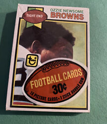 1979 Topps Football Sealed Cello Pack Ozzie Newsome Rookie On Top