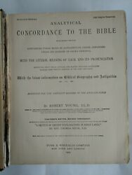 Antique 1905 Analytical Concordance Authorized Edition Revised R. Young Ll.d.