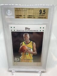 2007 Topps Kevin Durant 2 Rookie Card Bgs 9.5 Gem Mint. Small Crack On Case