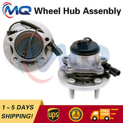 2 Front Wheel Bearing Hub Assembly For Lincoln Ls Ford Thunderbird W/abs 513167