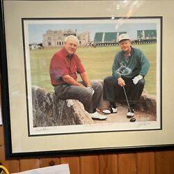 Arnold Palmer Jack Nicklaus Signed The King And The Golden Bear