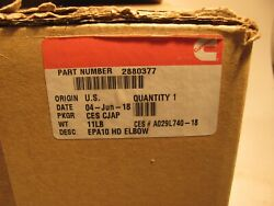 Cummins 2880377 Epa10 Hd Tube Connector Elbow Stainless No Core Charge Oem