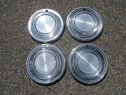Factory 1968 Oldsmobile Cutlass F85 14 Inch Hubcaps Wheel Covers
