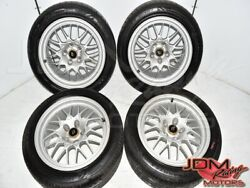 Used Jdm Nissan R32 Gtr 17x8jj Silver Bbs Forged Mags With 245/45r17 Tires