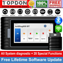 Topdon Auto Obd2 Diagnostic Scanner All System Immo Tpms Abs Srs Car Code Reader