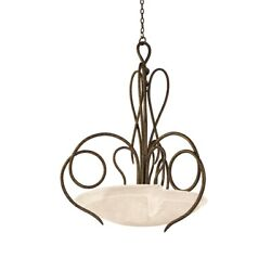 Kalco Lighting Tribecca 37 Pendant, Antique Copper/frost Glass - 4297ac-frost