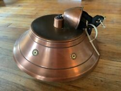 Vintage Ceiling Fixture Pull Down Light Atomic Space Age Saucer Mid Century