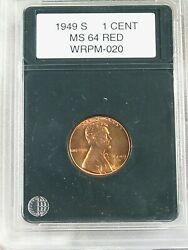 Bu 1949-s/s S Over S Rpm Lincoln Wheat Penny. 21